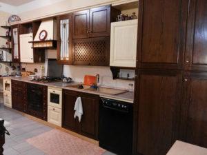 Cucina lineare in legno massello completa di tutti gli elettrodomestici, modificabile a misura - € 799