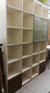 Parete libreria con anta in vetro scorrevole 183x45 prof. - € 179