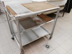 Carrello Ycami in acciaio 50x90 - 99 €