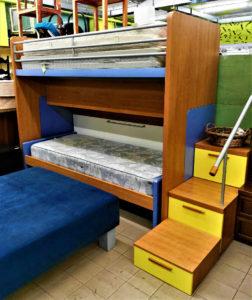 Cameretta doppio letto con scala contenitore - € 289.90