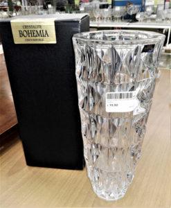 vaso in cristallo di bohemia nuovo