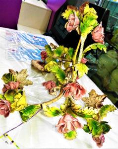 Lampadario con rose colorate - € 49.90 Coppia applique abbinabili - € 29.90