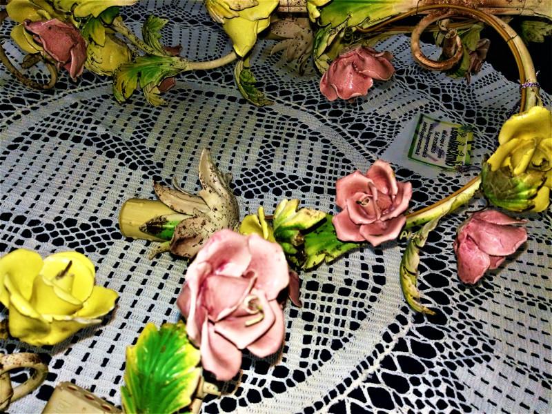 Lampadario applique con rose colorate il supermercatino dellusato