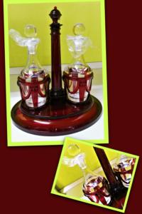 Set olio/aceto design Marioluca Giusti in vetro sintetico, nuovo, con confezione originale