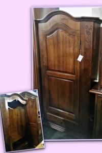 Armadio da ingresso ad un anta in legno massello L 108 P 45 H 198