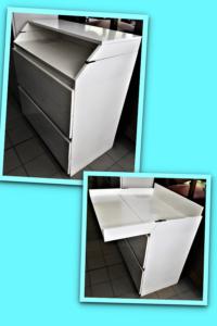 Cassettiera / fasciatoio bianco L 82 P 47 H 91