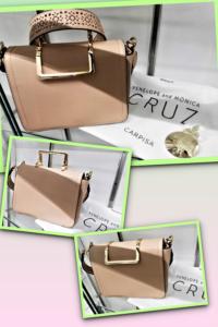 Borsetta Carpisa nuova, utilizzabile come pochette o tracolla, design by Penelope & Monica Cruz