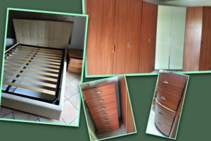 Camera da letto completa con cabina armadio ad angolo